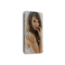Etui cuir portefeuille personnalisé pour wiko ozzy à l'aide d'une photo