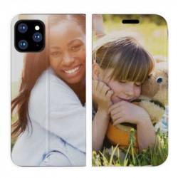 Etui rabattable personnalisé portefeuille RECTO VERSO pour iPhone 11 Pro Max à l'aide d'une photo