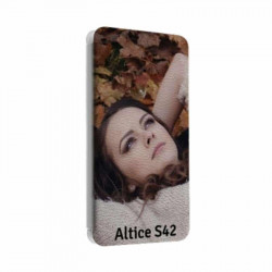 Etui rabattable portefeuille personnalisé pour Sfr Altice S42