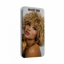 Etui rabattable portefeuille personnalisé pour wiko y60 à l'aide d'une photo