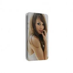 Etui cuir portefeuille personnalisé pour wiko rainbow à l'aide d'une photo