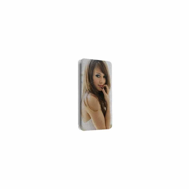 Etui rabattable portefeuille personnalisé pour wiko rainbow à l'aide d'une photo