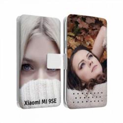 Etui rabattable personnalisé recto verso pour Xiaomi Mi 9SE