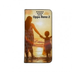 Etui rabattable personnalisé portefeuille pour Oppo Reno 2