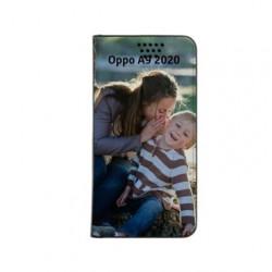 Etui rabattable personnalisé portefeuille pour Oppo A9 2020