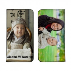 Etui rabattable personnalisé recto verso pour Xiaomi Mi Note 10