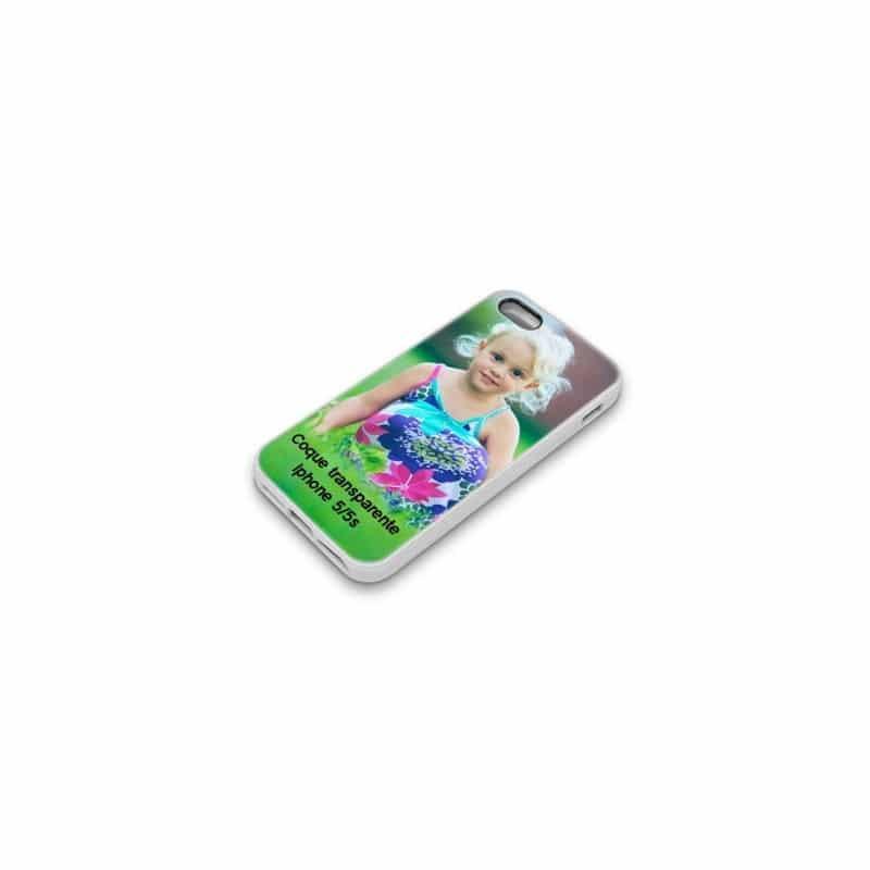 Coque personnalisée transparente pour iPhone 5 à l'aide d'une photo