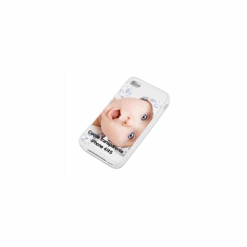 Coque personnalisée transparente pour iPhone 4 / 4S à l'aide d'une photo