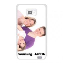 Coque transparente personnalisée pour Samsung Galaxy Alpha à l'aide d'une photo