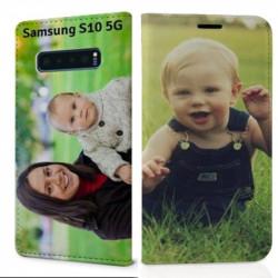 Etui rabattable personnalisé recto verso pour Samsung Galaxy S10 5g
