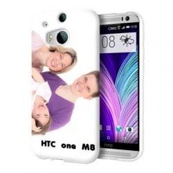 Coque transparente personnalisée pour HTC One M8 à l'aide d'une photo