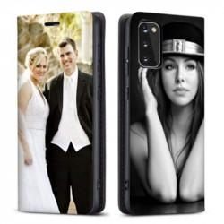 Etui rabattable personnalisé recto verso pour Samsung Galaxy S20 plus