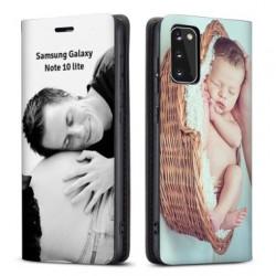Etui rabattable personnalisé recto verso pour Samsung Galaxy Note 10 lite