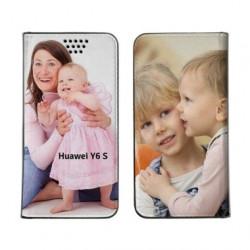 Etui rabattable personnalisé recto verso pour Huawei Y6S