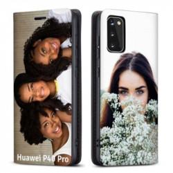 Etui rabattable personnalisé recto verso pour Huawei P40 Pro