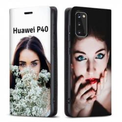 Etui rabattable personnalisé recto verso pour Huawei P40